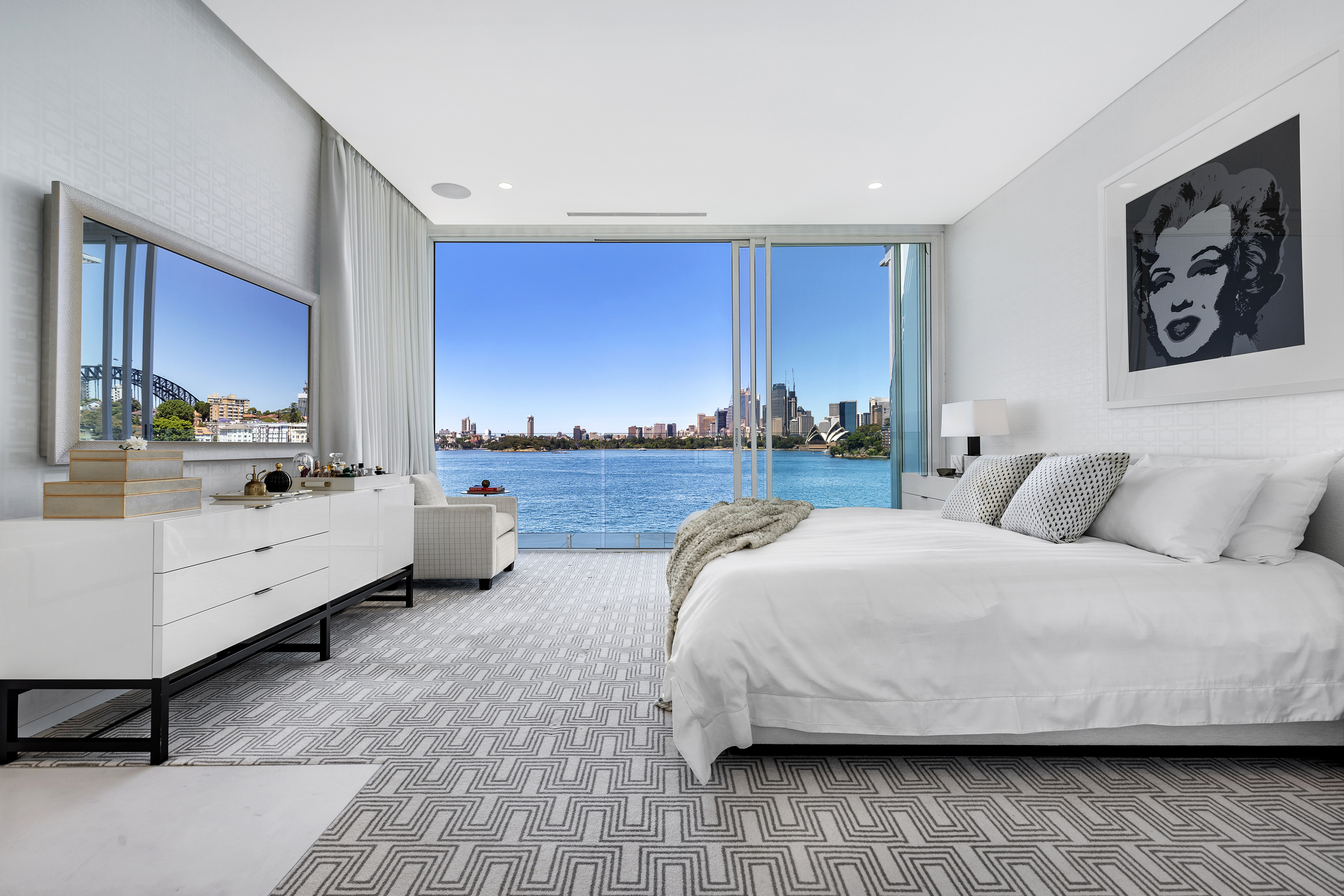waterfront bedroom